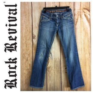 ☮️Rock Revival STEPHANIE Bootcut Denim Jean Sz 27